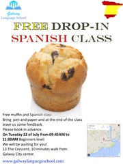 Free drop in Spanish class!