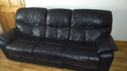 Black Leather 3 piece suite
